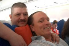 Flug nach Amerika 2004